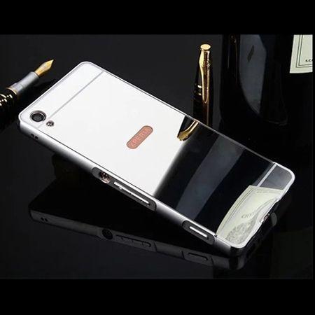 Mirror bumper case na Xperia XA - Srebrny
