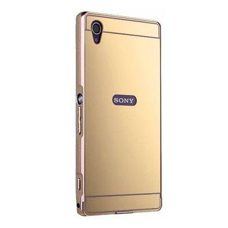 Mirror bumper case na Xperia Z1 - Złoty