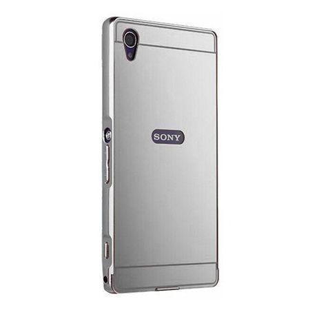 Mirror bumper case na Xperia Z1 - Srebrny