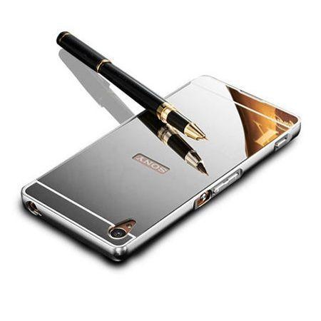 Mirror bumper case na Xperia Z2 - Srebrny