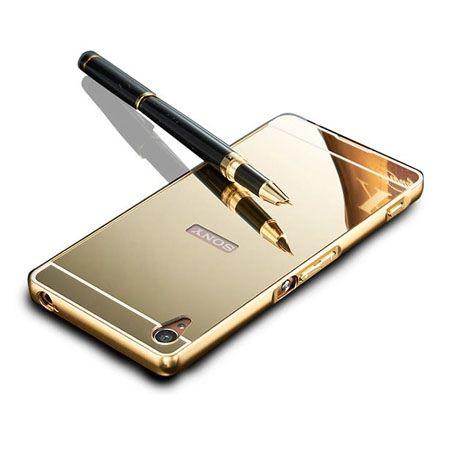 Mirror bumper case na Xperia Z2 - Złoty