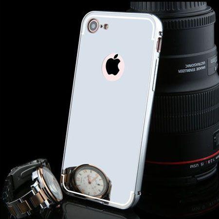 Mirror bumper case na iPhone 7 - Srebrny