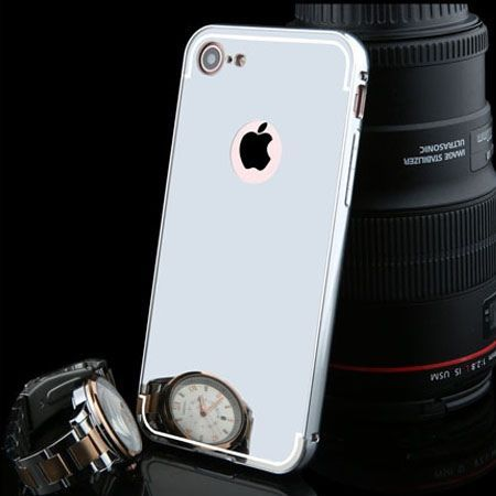 Mirror bumper case na iPhone 7 - Srebrny