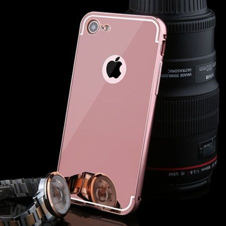 Mirror bumper case na iPhone 7 - Rose Gold