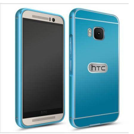 HTC One M9 etui aluminium bumper case niebieski.