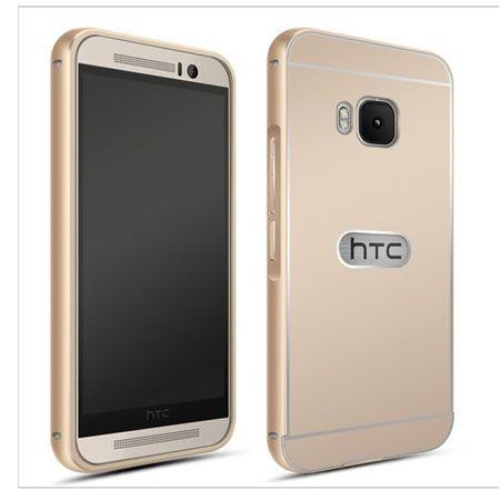 HTC One M9 etui aluminium bumper case złoty.