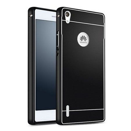 Huawei P7 etui aluminium bumper case czarny.
