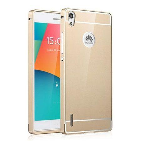 Huawei P7 etui aluminium bumper case złoty.