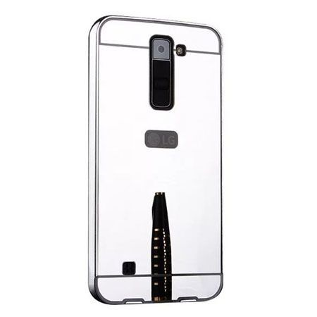 Mirror bumper case na LG K8 - Srebrny.