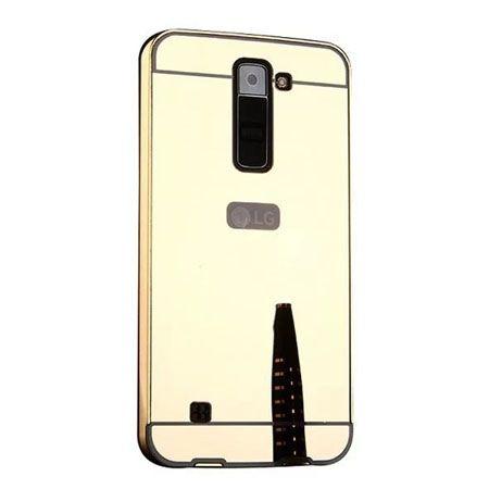 Mirror bumper case na LG K8 - Złoty.