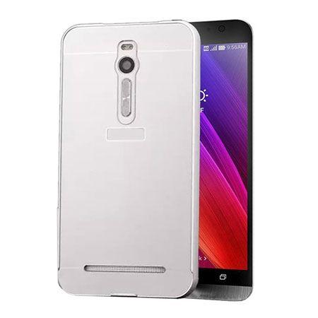 Mirror bumper case na Zenfone 2 - Srebrny