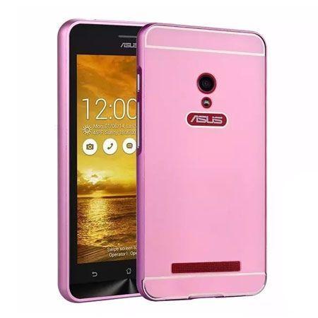 Zenfone 5 etui aluminium bumper case - Różowy
