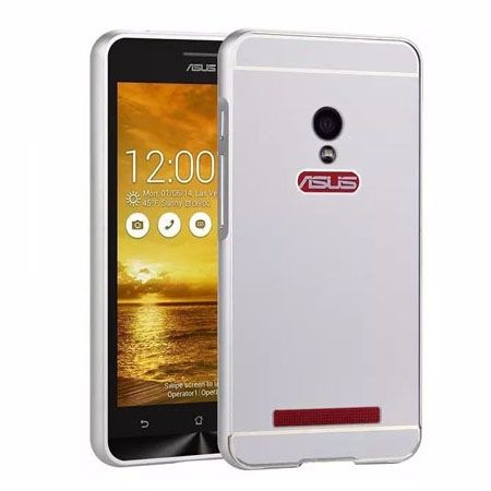 Zenfone 5 etui aluminium bumper case - Srebrny