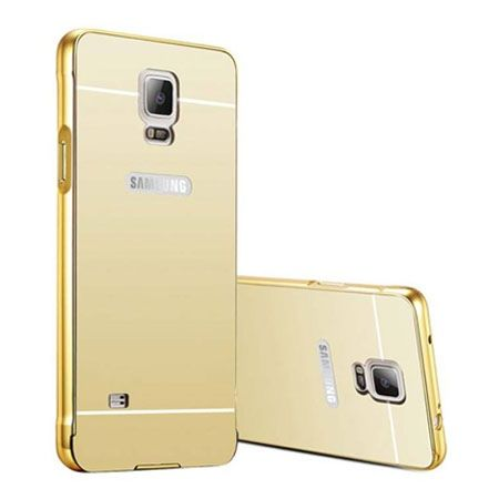 Mirror bumper case na Galaxy Note 4 - Złoty