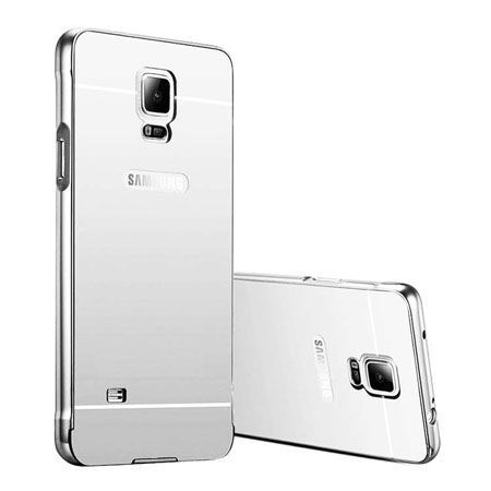 Mirror bumper case na Galaxy Note 4 - Srebrny