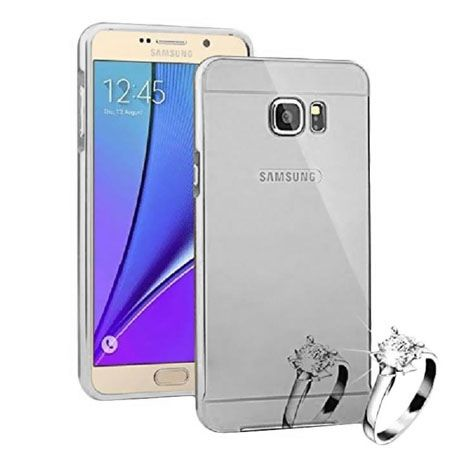 Mirror bumper case na Galaxy Note 5 - Srebrny