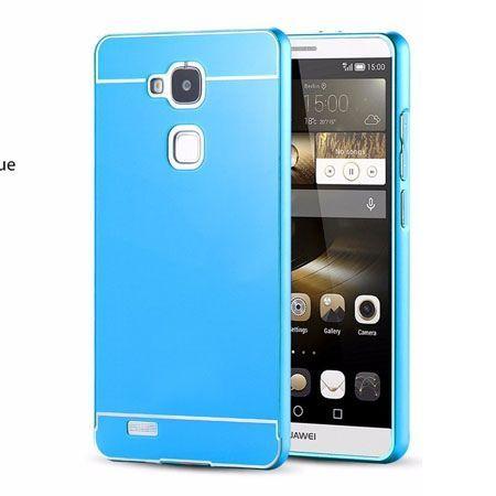 Huawei Mate 7 etui aluminium bumper case - Niebieski PROMOCJA !!!