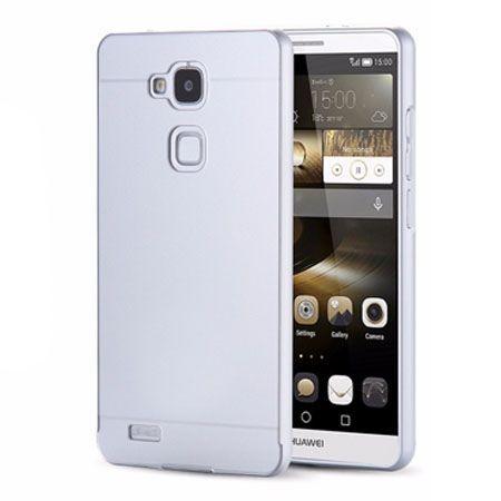 Huawei Mate 7 etui aluminium bumper case - Srebrny