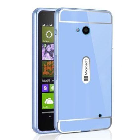 Nokia Lumia 640 etui aluminium bumper case - Niebieski PROMOCJA !!!