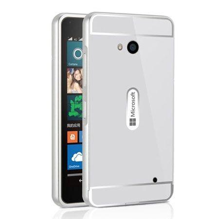 Nokia Lumia 640 etui aluminium bumper case - Srebrny