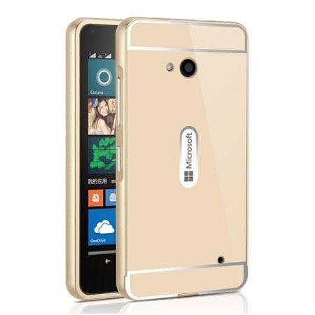 Nokia Lumia 640 etui aluminium bumper case - Złoty