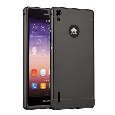 Mirror bumper case na Huawei P7 - Grafitowy