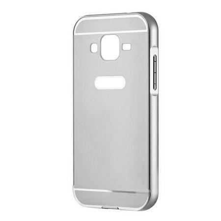 Galaxy Grand Neo etui aluminium bumper case - Srebrny
