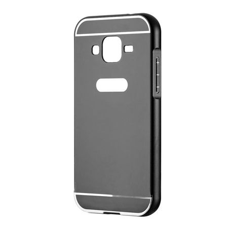 Galaxy Grand Neo etui aluminium bumper case - Czarny