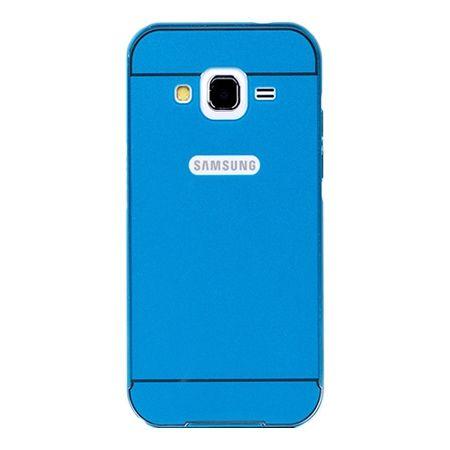 Galaxy Grand Neo etui aluminium bumper case - Niebieski