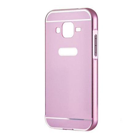 Galaxy Grand Neo etui aluminium bumper case - Różowy