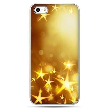 Świąteczne eui na telefon złote gwiazdki z nieba.