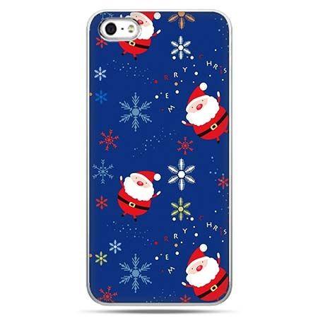 Świąteczne eui na telefon spadający Mikołaje.