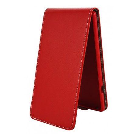 Etui na telefon iPhone 5 / 5s - kabura z klapką - czerwony