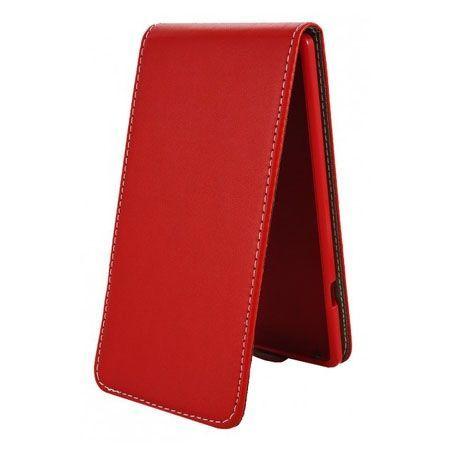 Etui na telefon iPhone 4 / 4s - kabura z klapką - czerwony