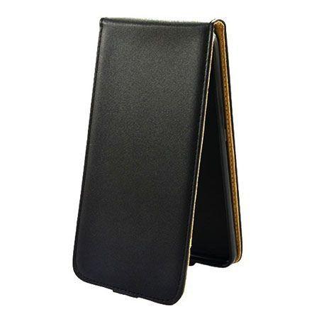 Etui na telefon Huawei P8 Lite Smart - kabura z klapką - czarny