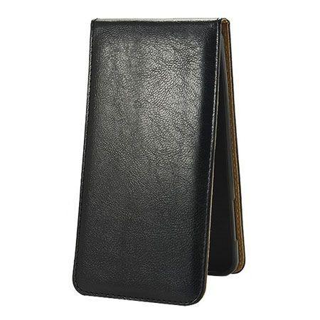 Etui na telefon Huawei P9 Lite - kabura z klapką - czarny