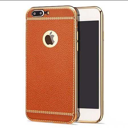 Etui na iPhone 7 Plus silikonowe platynowane TPU Slim skóra - brązowy.