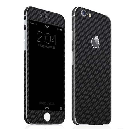 iPhone 6 sticker 360 naklejka na telefon carbon - czarna.