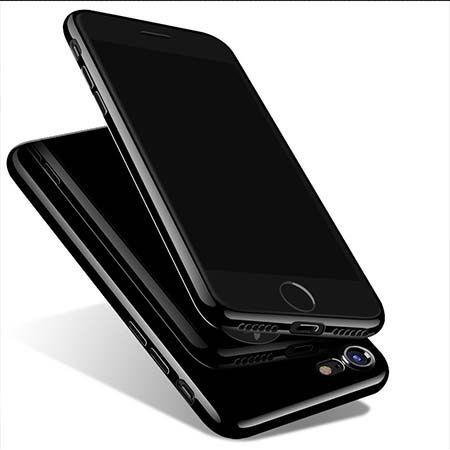 Etui na iPhone 7 silikonowe TPU Onyx Jet BLack - czarne.