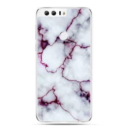 Etui na Huawei Honor 8 - różowy marmur