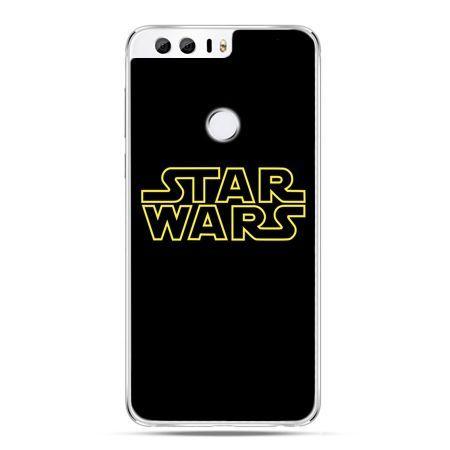 Etui na Huawei Honor 8 - Star Wars złoty napis