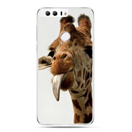 Etui na Huawei Honor 8 - żyrafa z językiem