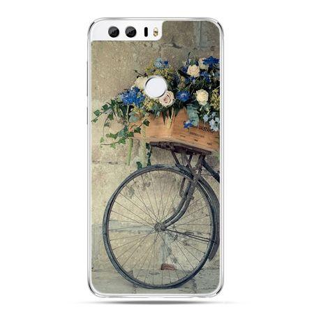Etui na Huawei Honor 8 - rower z kwiatami