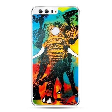 Etui na Huawei Honor 8 - kolorowy słoń