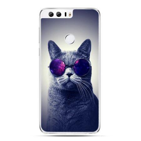 Etui na Huawei Honor 8 - kot hipster w okularach
