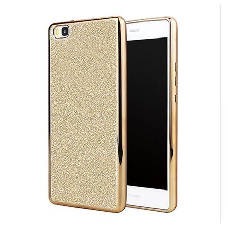 Huawei P8 Lite etui brokat silikonowe platynowane SLIM tpu - złoty