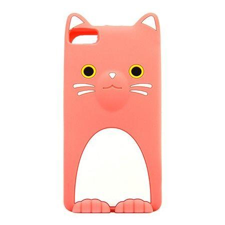 Etui na telefon Huawei P8 Lite - gumowe 3D - kotek różowy