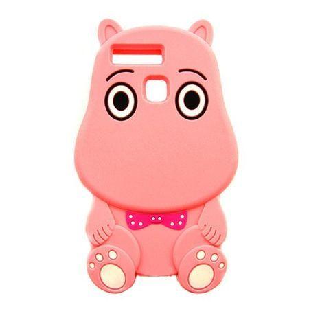 Etui na telefon Huawei P9 - gumowe 3D - Hipcio różowy