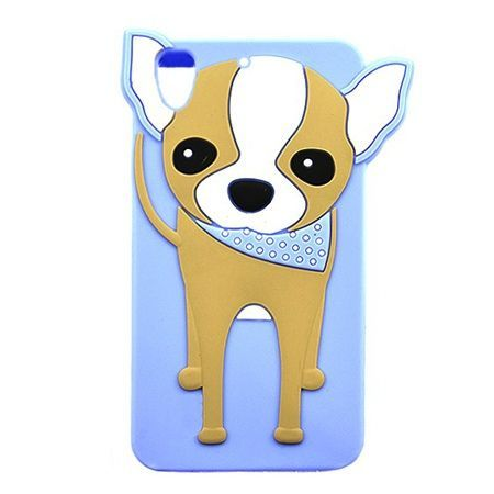 Etui na telefon Huawei Y6 II - gumowe 3D - piesek szczeniak, niebieskie