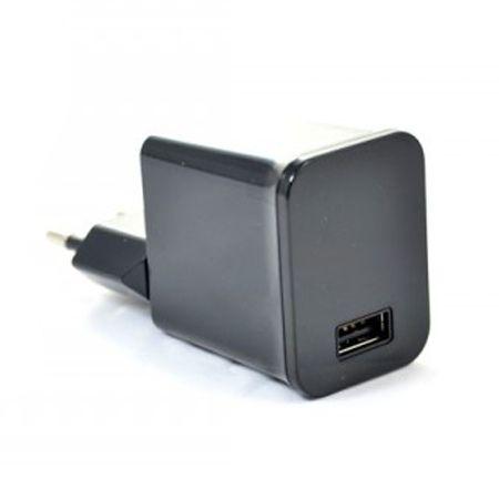 Mocna ładowarka sieciowa VEGA USB 2.1A - czarna.